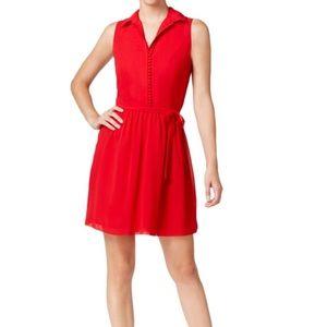 Kensie red chiffon dress XL